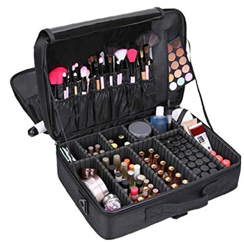 shentaotao Portable del Maquillaje del Caso cosmético del Bolso del Organizador de Almacenamiento Profesional Maleta Grande