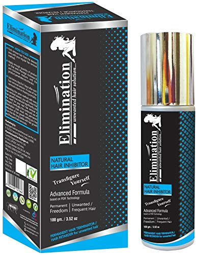 ELIMINATION hair inhibitor permanent remover reduction cream growth stopper unwanted freedom