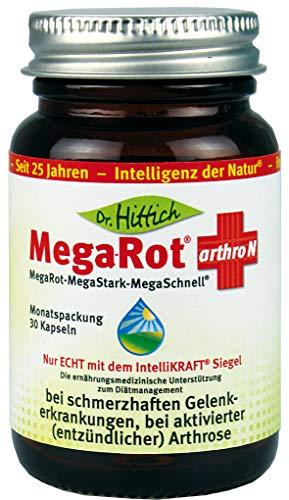 Mega-Rot® arthro N - 30 Omega-3 Gelenk-Kapseln. Die ernährungsmedizinische Unterstützung zum Diätmanagement bei schmerzhaften Gelenkerkrankungen, bei aktivierter (entzündlicher) Arthrose - Von Dr. Hittich