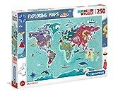 Clementoni- Puzzle Mapa 250 Piezas Mundo - Tradiciones (29064.2)