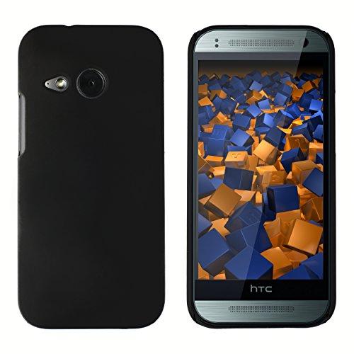 mumbi Hülle kompatibel mit HTC One mini 2 Handy Hard Case Handyhülle, schwarz