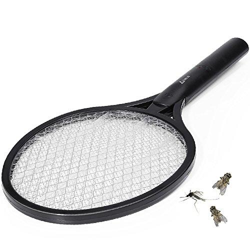 VIAEON Raqueta eléctrica Mosquitos matamoscas Insectos voladores Raqueta Anti-Insectos Trampa de Avispas Asesino de Moscas exterminador de Insectos