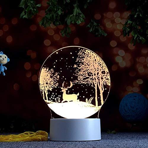 Lámpara de atmósfera y Luz de Noche para 3D plug-in mesita de noche lámpara de mesa-Forest fawn night light Luz cálida de la noche