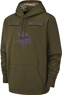 Minnesota Vikings 2018 NFL Salute to Service Men's STS Therma Hoody