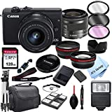 Câmera digital Canon EOS M200 sem espelho com lente de zoom de 15-45 mm + cartão de 128 GB, tripé, estojo e mais (pacote de 24 unidades)