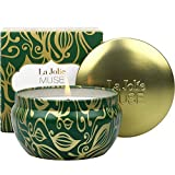 LA JOLIE MUSE Cedarwood & Fir Scented Candle, 100% Natural Soy Candle for Home, 45 Hours Long Burning Christmas Candle, Tin, 6.5Oz