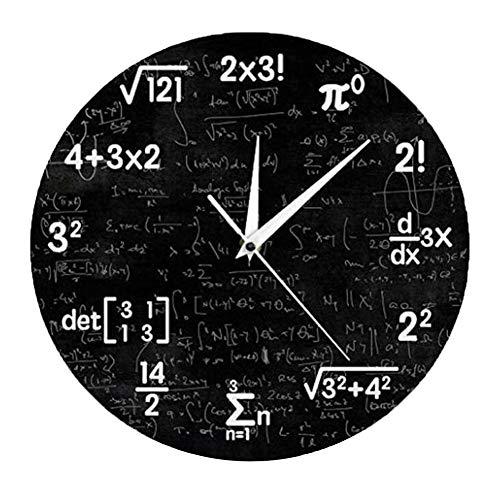 NGXL Mathe Formel Symbol Wanduhr Mathe Wanduhr Mathe Uhr Abschluss Geschenk Für Kinder Klassenzimmer Dekoration Geschenk Für Lehrer,2X3