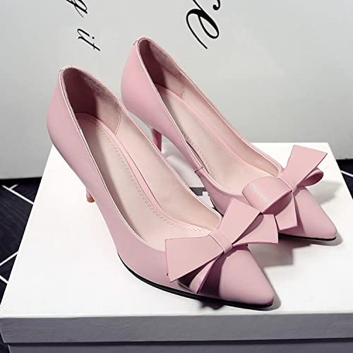Jqdyl Talons hautsBow Chaussures Femme Chaussures Tips Talons Talons