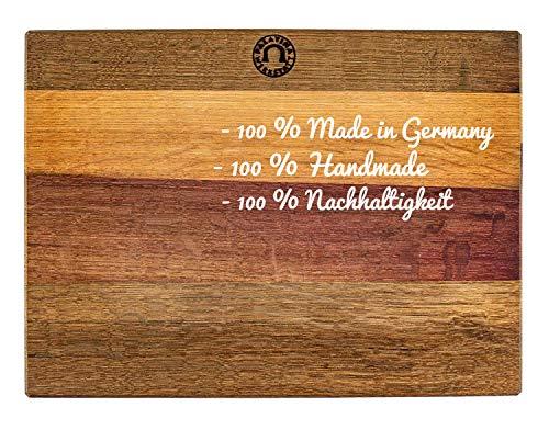 Palatina Werkstatt ® Grande planche de cuisine XXL massive (40 x 30 cm) | Fabriquée à la main | Robuste et n'abîme pas les lames | Planche de cuisine en palatinage | VK : 119 €
