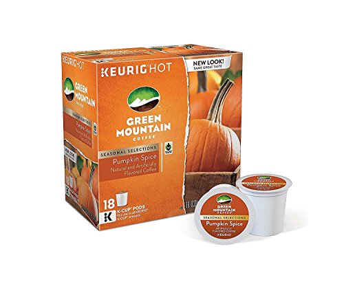 Green Mountain Coffee K-Cup 18 Count Pumpkin Spice (Packaging May Vary)