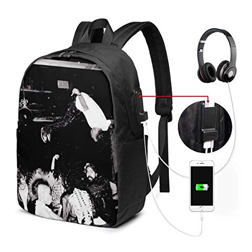 Lawenp Playboy Carti Die Lit. Mochila Unisex Basic Travel Laptop y Mochilas con Puerto de Carga USB Sport College School Computer Bag para Mujeres Hombres