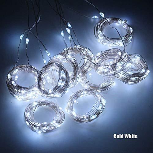 Mrjg Gartenleuchte 3M LED-Vorhang Lichter Warm White Christmas-Schnur-Licht-Fernbedienung USB Fairy Light Garland Schlafzimmer Hauptdekoration Beleuchtung aussen (Color : Cold White, Size : 3M x 1M)