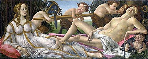 Spiffing Prints Sandro Botticelli - Venus and Mars - Large - Matte - Black Frame