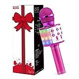 Fede Karaoke Mikrofon, Drahtloses Bluetooth Mikrofon für Kinder, Lustige Geschenke Spielzeug für Teenager Mädchen Jungen, Tragbares KTV Lautsprecher Recorder für Smartphone/PC