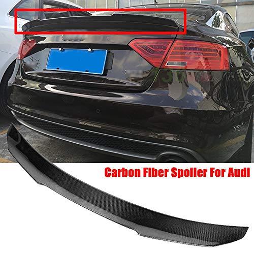 ACEOLT Prima Real Fibra de carbon Spoiler Alerones Alerón trasero para Audi...