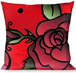 Multicolor Buckle Down Camo Pink Throw Pillow