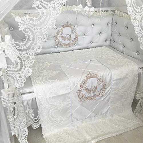 Purchase Milky Cloud Baby Bedding Crib Set, Custom Luxury Nursery Bedding, Sheet Pillow Bumper Quilt