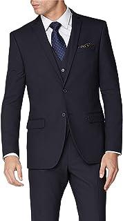 Limehaus Men's Debs Plain Navy Slim Fit 2 Piece Suit