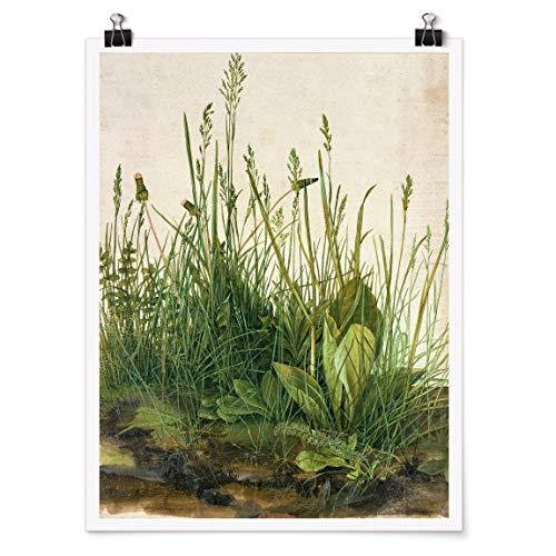 Bilderwelten Poster Wanddekoration Albrecht Dürer - Das große Rasenstück Matt 40 x 30cm