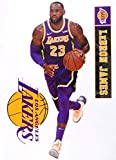 Lebron James FATHEAD Graphic + Los Angeles Lakers Logo Set Official NBA Vinyl Wall Graphics 17' INCH
