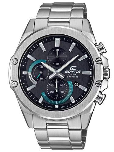 Casio Herren Analog Quarz Uhr mit Edelstahl Armband EFR-S567D-1AVUEF