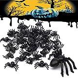 ❥【Super Qualità】 - Materiale non tossico Questi ragni in plastica di alta qualità. questi finti ragni sono di plastica, durevoli e realistici, leggeri e facili da usare, non sbiadiscono e non odorano, possono accompagnarti a lungo. Il colore è nero e...