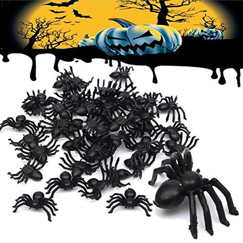 50 unids Errores Realistas de Plástico Falso Araña Cucarachas Gusanos de Halloween Broma Divertida Broma Party Favor Decoración Apoyos