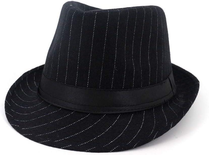 ZLQQLZ Women Cap Men Fedora Hat with Belt Panama Dad Hat Wool Hat Outdoor Pop Hat Size 56-58CM Hat (Color : Black, Size : 56-58)