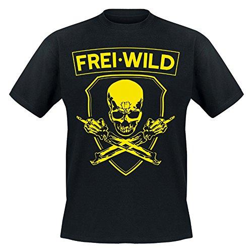 Freiwild Frei.Wild - Rivalen & Rebellen/Skull T-Shirt, Farbe: Schwarz, Größe: S