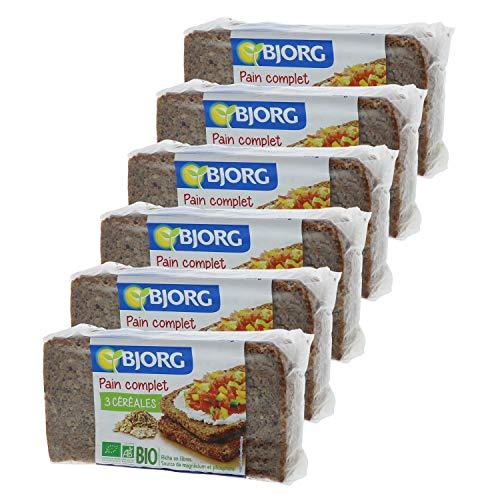 Bjorg Pain Complet aux 3 Céréales Bio - Prétranché - 500 g - Lot de 6