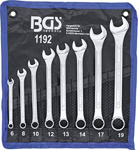 Bgs Technic Pro+ Din 3113A - Set Di Chiavi Combinate, 6-19 Mm, Confezione Da 8