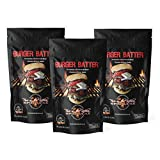 Gourmet Burger Seasoning and Spice - Fire in The Kitchen Homemade Hamburger BBQ Batter for Grill Beef Steak - Seasonings Cooking Spices Specialty Rub Meat Barbecue Marinade, Grilling/Smoked (3 Pack)