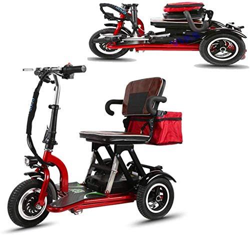 GQQ Rollstühle, Zusammenklappbarer Elektrischer Dreirädriger Roller Leichte Passform Für Ältere Menschen; Deaktivierter Mini-Roller / 48V12A / Lithium-Batterie Maximale Laufleistung -35 Km / 120 Kg K