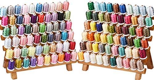 Simthread 120 Spools Polyester Machine Embroidery Thread Kit 40 Weight 550Y(500M) for Home Embroidery Sewing Machines Similar to Madeira and Robinson-Anton Colors