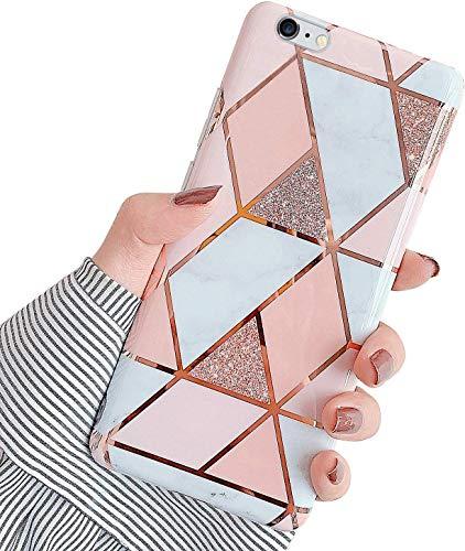 YSIMEE Compatible con Fundas Samsung Galaxy A70 Estuches,Brillante Glitter Suave Ultra Fina Anti-Amarillo con Reforzado Enchapado TPU Goma Antigolpes Protector Carcasas con Diamante,Oro Rosa