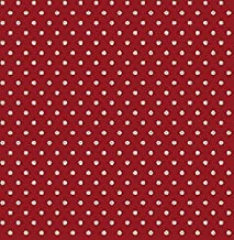 Wallpaper French Country Small Print Navy Blue Eggshell White Flower on Red Background