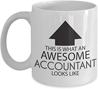 Funny Occupation Coffee Mug - This is What an Awesome Accountant Looks Like - Inspirational Sarcasm Birthday Christmas Humor Gift Idea Novelty Tea Cup for Coworker Friend Men Women Adult