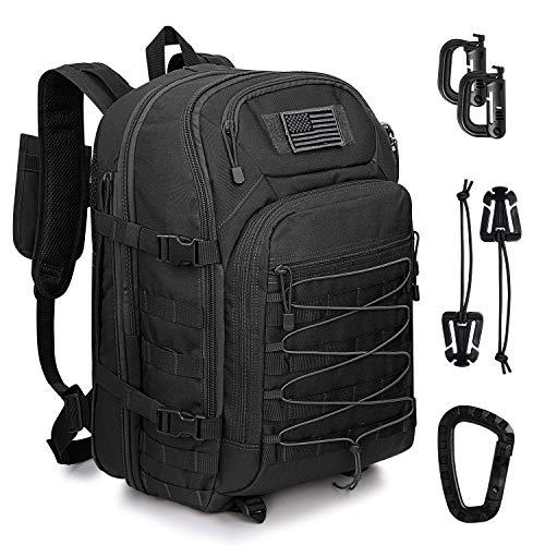G4Free 45L Tactical Backpack Großer Militärrucksack der Armee Wasserfester Molle-Rucksack für Wanderungen im Freien Camping Trekking Jagd