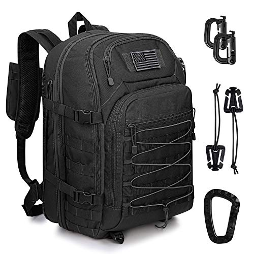 G4Free 45L Tactical Backpack Large Army Military Backpack Water Resistant Molle Rucksack for Outdoor Hiking Camping Trekking Hunting