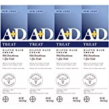A+D Zinc Oxide Diaper Rash Treatment Cream, Dimenthicone 1%, Zinc Oxide 10%, Easy Spreading Baby Skin Care, 4 Ounce Tube (Pack of 4) (Packaging May Vary)
