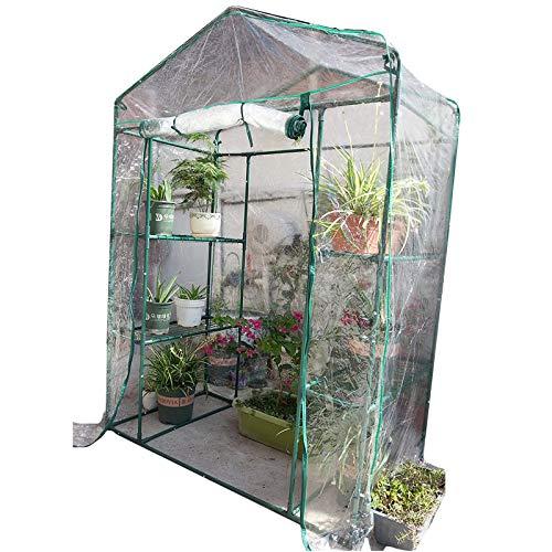 HWLL Casa Verde Portátil Grande Polietileno Plástico para El Jardín, Invernadero de Jardín Sin Cita, para El Patio Trasero del Garaje Sótano