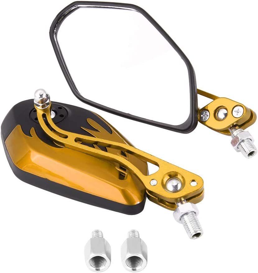 Motorcycle Rear Some reservation View Mirrors Universal Challenge the lowest price of Japan ☆ 1 Alumi 10mm Pair of 8mm