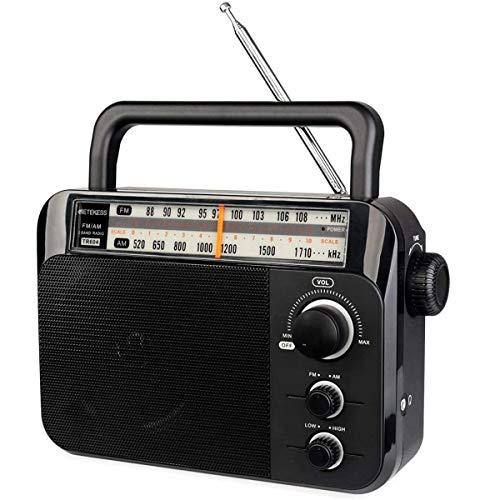 Retekess TR604 AM FM Radio Portable Transistor Analog Radio with
