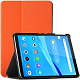 Forefront Hülles Hülle für Lenovo Tab M8 FHD - Schutz Lenovo Tab M8 FHD Hülle Ständer - Orange - Dünn und Leicht, Lenovo Tab M8 FHD (2. Gen) 8 Zoll TB-8705F / 8705N Hülle, Tasche