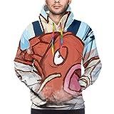 Magikarp Poke-Mon Cartoon Stylish Men'S Hooded Sweatshirt Pullover Hoodie For Adult
