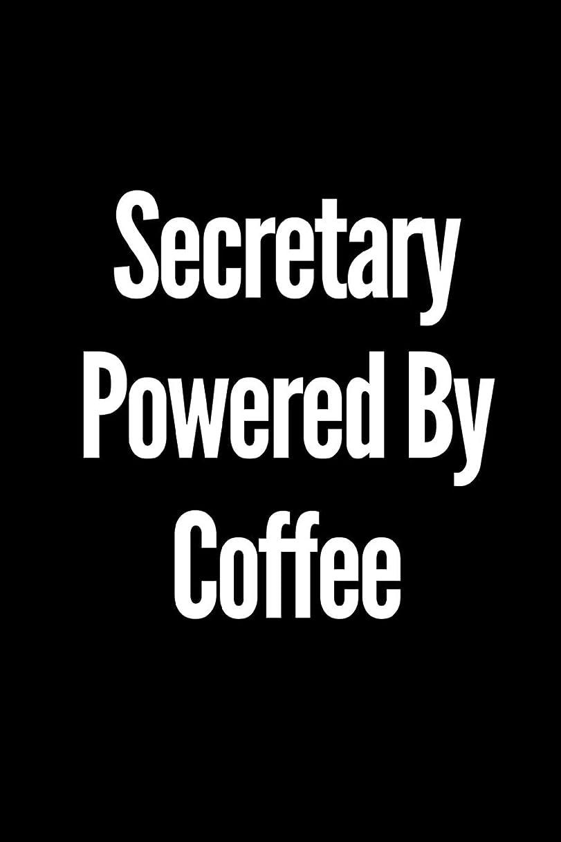 カジュアル難破船テクトニックSecretary Powered By Coffee: A wide ruled Notebook/Journal