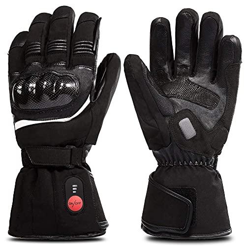 retter Beheizte Handschuhe mit Wiederaufladbare Li-Ion Akku Erhitzt für Männer und Frauen, Warme Handschuhe für Radfahren Motorrad Wandern Skifahren Bergsteigen, arbeitet bis zu 2,5-6 stunden (XXL)