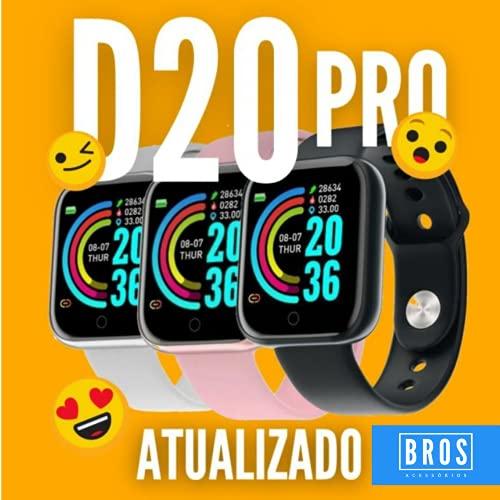 Relógio Smartwatch inteligente D20 monitor saúde bluetooth Preto