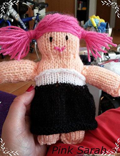 Strickanleitung Puppe Pink Sarah 18 cm groß, auch für Anfänger: Schritt für Schritt Anleitung
