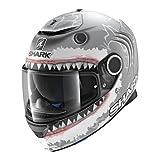 Shark 2690_26890 Casco de Moto Hark Spartan Lorenzo Wht Mate, Hombre, Gris/Blanco, Small